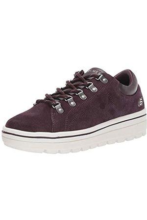 Skechers Damen Street Cleats 2 Sneaker, (Plum Suede/Duraleather Trim #Flash Plum)