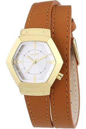 Just Watches Damen-Armbanduhr Analog Quarz Leder 48-S2243-GD-SL