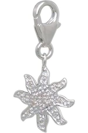 Melina Damen-Charm Anhänger Blume 925 Sterling Silber 1801148