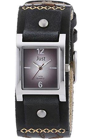 Just Watches Damen-Armbanduhr Analog Quarz Leder 48-S10626-BR-BK