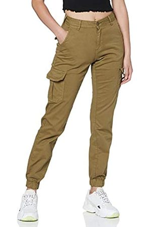 Urban classics Damen Ladies High Waist Cargo Pants Klassische Hose