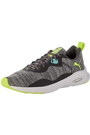 Puma Herren Hybrid Fuego Knit Sneaker, (Castlerock-Green Glimmer-Yellow Alert)