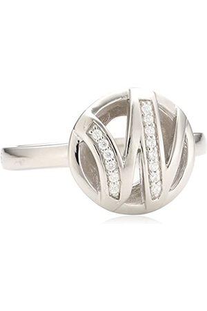 MERII Damen-Ring 925 Sterling Silber rhodiniert Zirkonia Gr.50 (15.9) M0738R/90/03/50