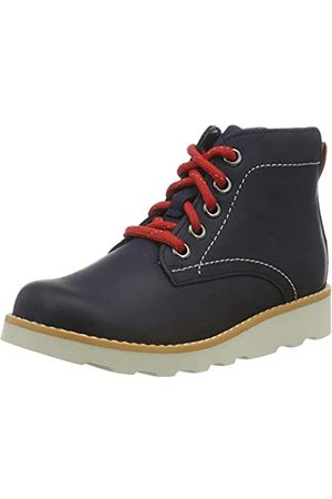 Clarks Jungen Crown Hike K Klassische Stiefel, (Navy Leather Navy Leather)