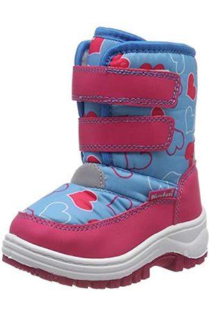 Playshoes Kinder Winter-Stiefel, warme Schneestiefel mit Klettverschluss