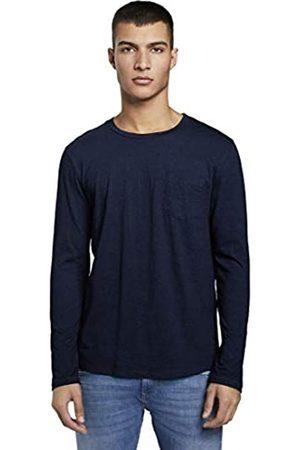 TOM TAILOR Mens Indigo Langarm Long Sleeve EUR Top, 10120-Used Dark Stone Blue