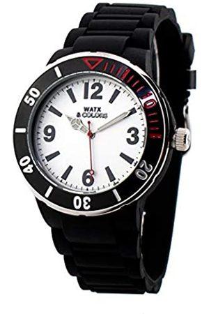 Watx Analog Quarz Uhr mit Gummi Armband RWA1622-C1512