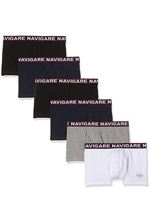 NAVIGARE Herren 322 Boxer (Pacco Da 6), Multicolore (Bianco/ Nero/Antracite/ Navi)