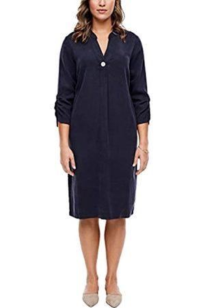 s.Oliver Damen Lyocell-Kleid mit Tunika-Ausschnitt navy 50