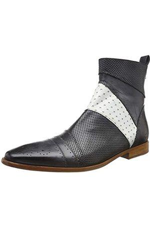 Melvin & Hamilton Herren Elvis 26 Klassische Stiefel, Mehrfarbig (Black White Crust-Black)