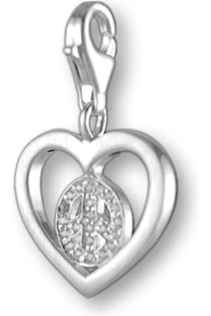 Melina Damen-Charm Anhänger Herz 925 Sterling Silber 1801248