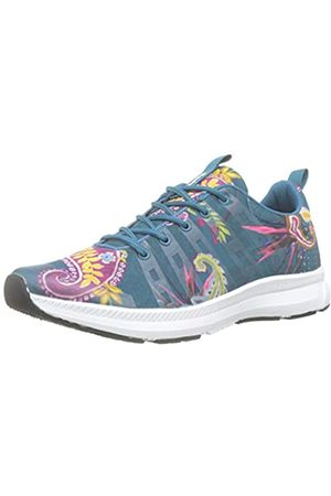 Desigual Damen Runner Ethnic Sneaker, (Polar Blue 5049)