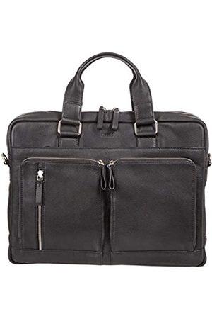 Alassio 47032 - Aktentasche Campo, Laptoptasche für 15 Zoll Notebooks, Umhängetasche aus Echtleder, Tasche mit gepolstertem Laptopfach und 2 Reißverschluss Hauptfächer in