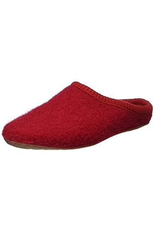 Haflinger Dakota Classic, Pantoffeln, Unisex-Erwachsene, Walkstoff aus reiner Wolle, (Ziegelrot 285)39 EURot (Ziegelrot 285)