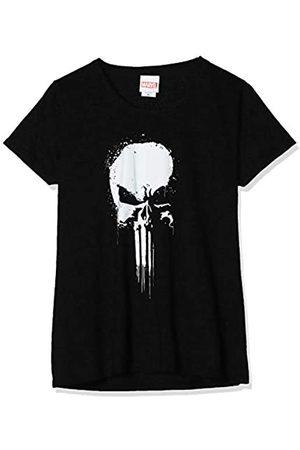 Marvel Damen Knights Paintspray Skull, (Black Blk) S-T-Shirt