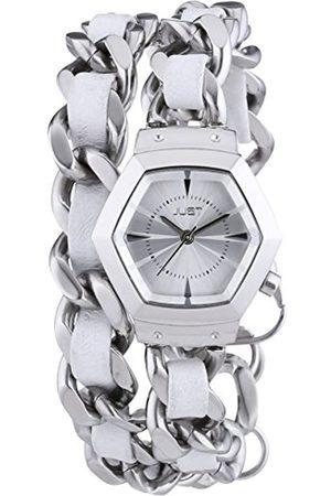 Just Watches Damen-Armbanduhr Analog Quarz Edelstahl 48-S2244-WH