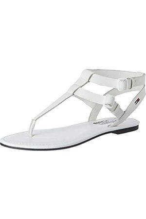 Tommy Hilfiger Damen Flat Geschlossene Sandalen, (White Ybs)