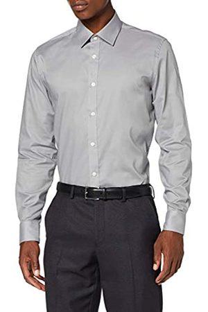 FIND Amazon-Marke: Herren Plain Poplin Slim fit Hemd, XS