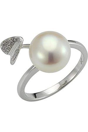 ADRIANA Damen-Ring Giardino 925 Silber rhodiniert Zirkonia Süßwasser-Zuchtperle Gr. 54 (17.2) - AGI4-Gr.54