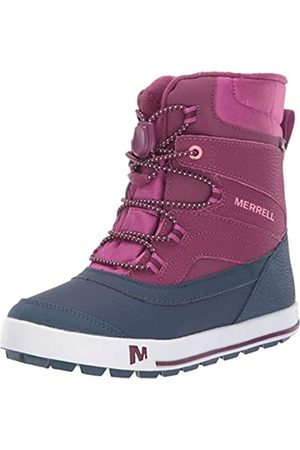 Merrell Unisex-Kinder Ml-Snow Bank 2.0 Waterproof Schneestiefel, (Berry)