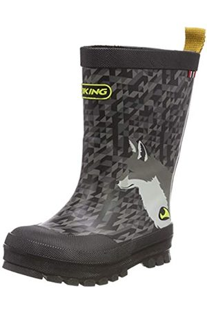 Viking Unisex-Kinder Big Fox Gummistiefel, (Black/Multi 250)
