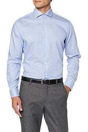 Seidensticker Herren Tailored Fit Langarm mit Spread Kent-Kragen Bügelleicht-Seasonal-100% Baumwolle Businesshemd
