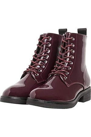 Urban classics Damen Lace Combat Boots, (Burgundy 00606)