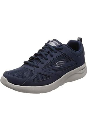 Skechers Men's Dynamight 2.0-fallford Trainers, Blue (Navy Leather/Mesh/Pu/Trim Nvy)