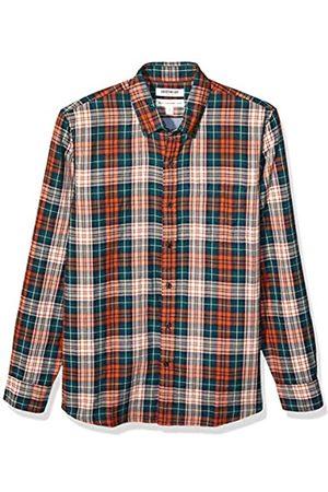 Goodthreads Amazon-Marke: Herrenhemd, Langarm, normale Passform, innenseitig bedruckt