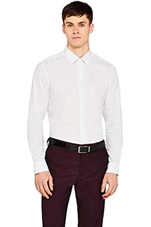 FIND Amazon-Marke: Herren Businesshemd Slim Fit Printed, 42 cm