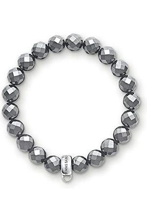Thomas Sabo Damen-Armband Charm Club 925 Hämatit 17.5 cm - X0187-064-11-L