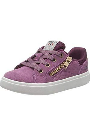Viking Mädchen Eve Low Zip Sneaker, (Violet/Bordeaux 2107)