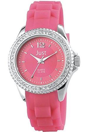 Just Watches Damen Analog Quarz Uhr mit Kautschuk Armband 48-S3858-PI