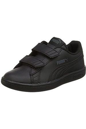 Puma Unisex-Kinder Smash v2 L V PS Sneaker, ( Black- Black)