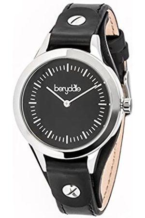 Berydale Damen Armbanduhr mit Lederband und Quarzwerk