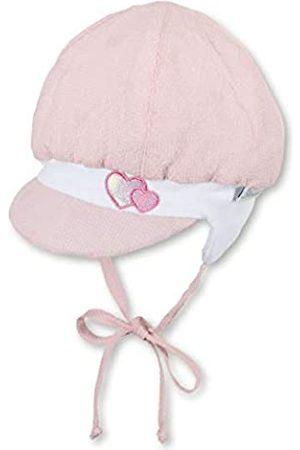 Sterntaler Ballonmütze für Mädchen mit Bindebändern, Ohrenklappen und Herz-Motiven, Alter: 3-4 Monate, Größe: 39
