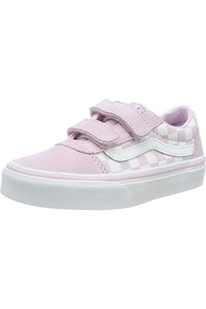 Vans Mädchen Ward V - Velcro Suede Sneaker, Pink (Checkerboard/Lilac Snow V2q)