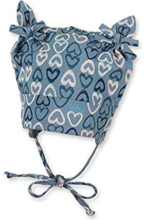 Sterntaler Knotenmütze für Mädchen mit Herzchenmuster, Alter: 4-5 Monate, Größe: 41