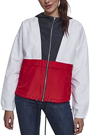 Urban classics Damen Jacke Übergangsjacke Ladies 3-Tone Oversize Windbreaker - Farbe navy/white/fire red
