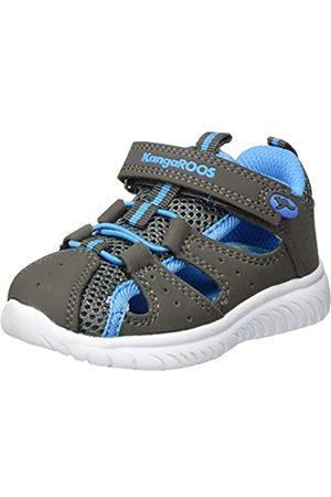 KangaROOS Unisex Baby KI-Rock Lite EV Sneaker, (Steel Grey/Brilliant Blue 2007)