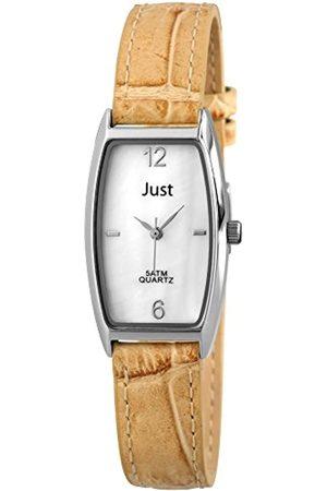 Just Watches Damen-Armbanduhr Analog Quarz Leder 48-S10420-WH-LBR