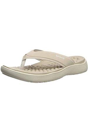 Crocs Damen Reviva Flip Women Zehentrenner, (Cobblestone/Stucco 2zc)