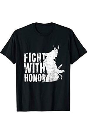 Kampfsport Honor Shirt Fight with Honor Kampfsport Samurai Fitness Karate Taekwondo T-Shirt
