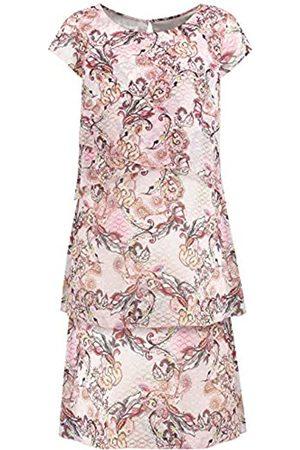 Gerry Weber Damen Kleid Mit Stufen Ausgestellt /Tabak/Flamingo Druck 46