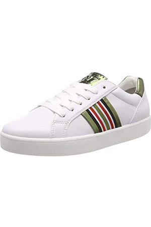 Marco Tozzi Damen 2-2-23702-32 Sneaker, (White/Green 175)