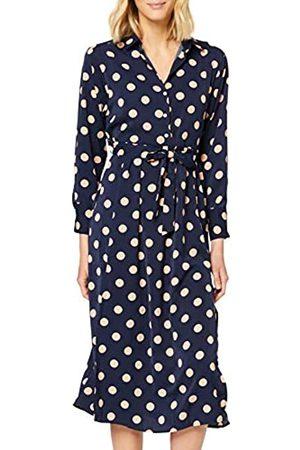 Mela Damen Polka Dot Midi Shirt Dress Lässiges Kleid