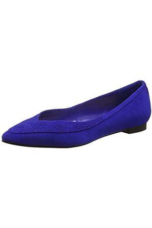 Cortefiel Damen Hausschuhe Punched Flat Ballerina Pack, (blues 11)