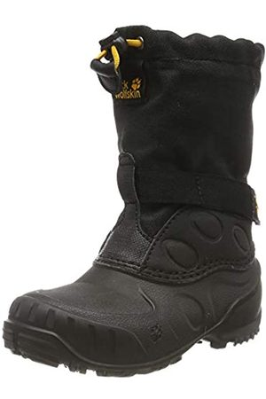 Jack Wolfskin Unisex-Kinder Iceland HIGH K Schneestiefel, Black/Burly Yellow Xt