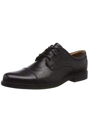 Clarks Herren Un Aldric Cap Derbys, (Black Leather)