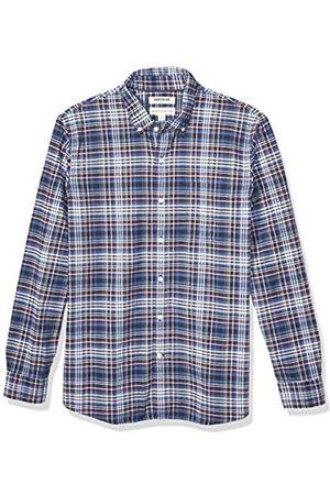 Goodthreads Standard-Fit Long-Sleeve Plaid Oxford Shirt Buttondown-Hemd, Purple Denim Multi